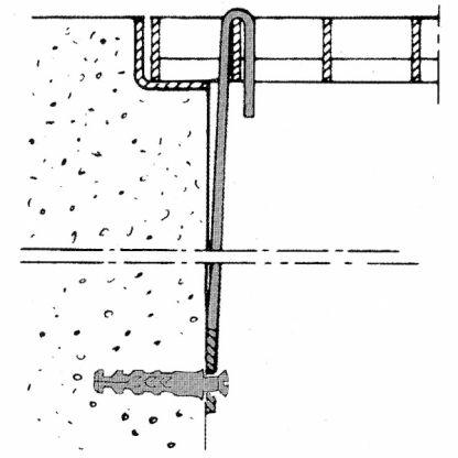 Sicherungsbügel für Lichtschacht-Gitterroste -  MW 30/30