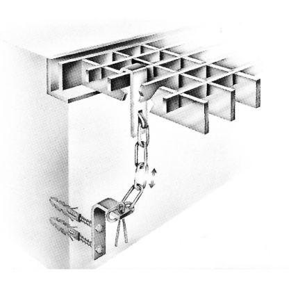 Sicherungsketten für Lichtschacht- Gitterroste - MW 30/10 & MW 30/30